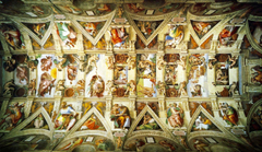 Sistine Chapel Ceiling by Michelangelo wallpapers 3