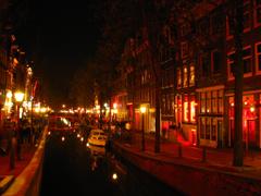 Red light district Amsterdam pics