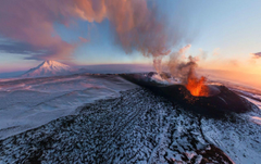 Volcano Eruption Ashes Russia wallpapers