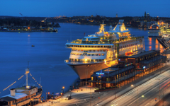 cityscapes night Stockholm cruise ship cities Wallpapers