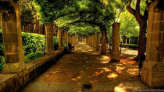 Wallpapers Natured Plase Place Alley Bench City Nature Park Spain