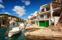 Wallpapers Majorca Mallorca Spain Spa town Cala Figuera Pier Boats
