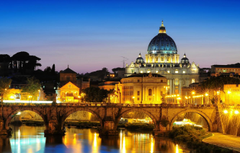 Wallpapers the city the evening lighting Rome Italy Rome The