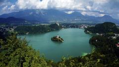 Beautiful Landscape Lake Bled Slovenia Wallpapers Hd