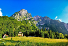Wallpapers Slovenia Mountains Lodges Expensive Clearly Shadows