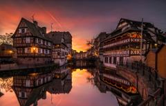 Wallpapers river home Strasbourg image for desktop section