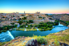 Wallpapers Toledo Spain Rivers Cities Houses