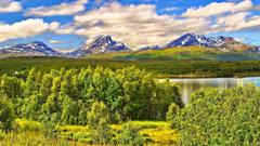 Tromso Tag wallpapers Panorama Northern Norway Summer Artic Circle