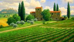 Tuscan Countryside Wallpapers Desktop