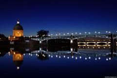 Toulouse The Garonne River Great Night View France Hd Desktop
