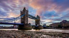 Tower Bridge Crossing River Wallpapers