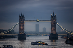Twin Tower Bridge London at night HD wallpapers
