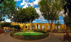Malta Park Fountains Valletta Shrubs Nature people garden wallpapers
