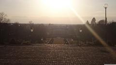 Morning sun Uppsala Botanical Garden 4K HD Desktop Wallpapers for