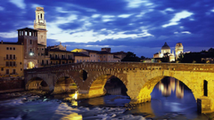 Architecture buildings Italy Verona Ponte Pietra wallpapers