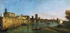 bernardo bellotto pattern italy town verona sky sea bridge river