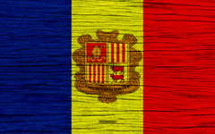 wallpapers Flag of Andorra 4k Europe wooden texture