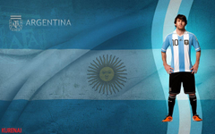 Lionel Messi Argentina Flag Backgrounds Wallpapers