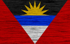 wallpapers Flag of Antigua and Barbuda 4k North America