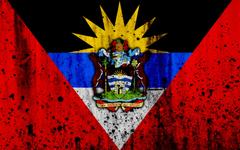 wallpapers Antigua and Barbuda flag 4k grunge flag of