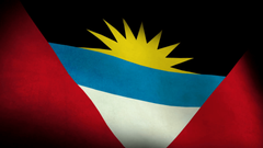 Low Angle view of National flag of antigua and barbuda backgrounds