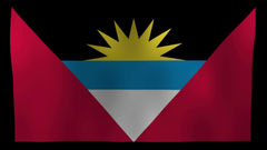 Antigua and Barbuda Flag 4K Motion Loop After Effects Template
