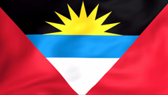 Developing the flag of Antigua and Barbuda Stock Video Footage