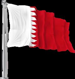 Bahrain Waving Flag PNG Image
