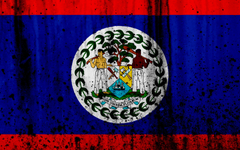 wallpapers Belize flag 4k grunge North America flag of