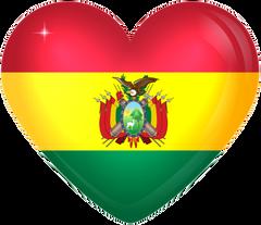 Bolivia Large Heart Flag