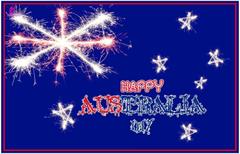 Australia Day 26 January Wishes on Australia Flag HD Wallpapers