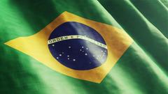 Brazil Flag Waving Wallpapers