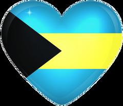 Bahamas Large Heart Flag