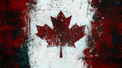 Canadian flag with paint drops wallpapers