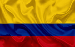 wallpapers Colombian flag Colombia South America silk