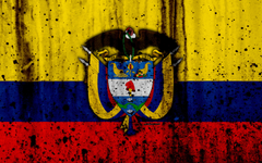 wallpapers Colombian flag 4k grunge flag of Colombia