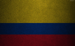 wallpapers Flag of Colombia 4K leather texture Colombian