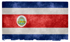 Costa Rica Grunge Flag HD Wallpapers