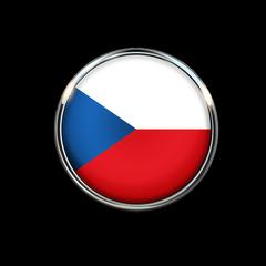Czech Republic Flag Circle Color