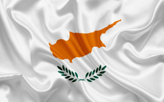 wallpapers flag of Cyprus Europe Cyprus white silk flag