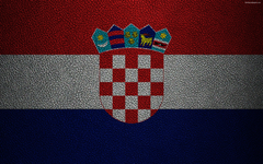 wallpapers Flag of Croatia 4k leather texture Croatian