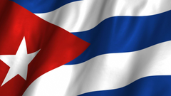 Cuba Waving Flag Stock Video Footage