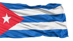 Realistic 3D detailed slow motion Cuba flag in the wind Motion