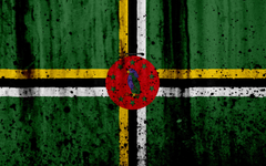 wallpapers Dominican flag 4k grunge flag of Dominica