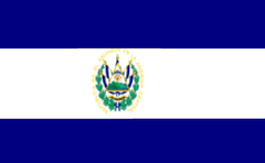 El Salvador Flag Colouring Page