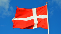 red and white cross print flag image