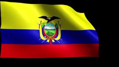 Blowing Ecuador Flag