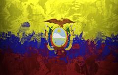 Wallpapers paint flag flag Ecuador The Republic Of Ecuador