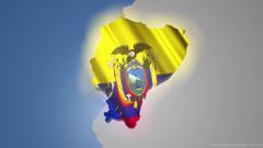 Blowing Ecuador Flag HD Wallpapers Desktop Backgrounds