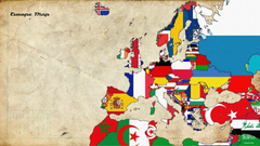 Wallpapers illustration collage cartoon flag Europe world